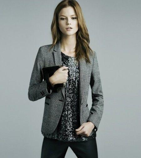 Серый пиджак для вечеринки