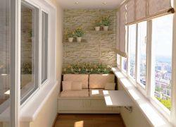 Интересные идеи отделки балконы