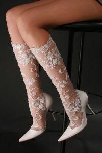 Белые свадебные сапоги 5