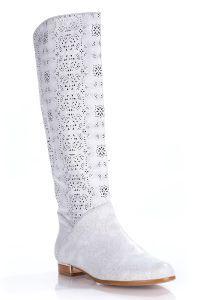 Белые свадебные сапоги 9