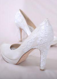 Белые туфли на свадьбу 4