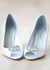 Белые туфли на свадьбу 8