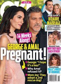 Месяц назад таблоиды написали о беременности Амаль