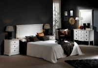 черно белый интерьер спальни 3