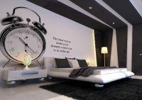 дизайн спальни черно белый 1