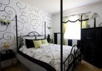 дизайн спальни черно белый 2