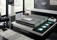 черно белый интерьер спальни 1