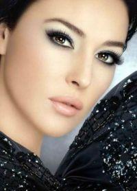 черно белый макияж 1