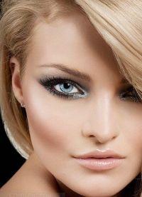 черно белый макияж 2