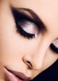 черно белый макияж 9