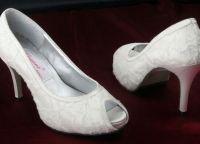 Cвадебные туфли на низком каблуке 2