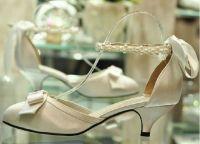 Cвадебные туфли на низком каблуке 3