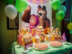 День рождения в стиле «Маша и Медведь»