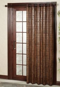 Деревянные шторы на дверной проем 9