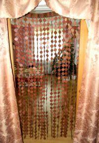 Деревянные шторы на дверной проем 2