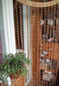 Деревянные шторы на дверной проем 3