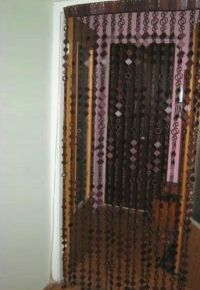 Деревянные шторы на дверной проем 4