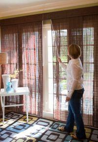 Деревянные шторы на дверной проем 5