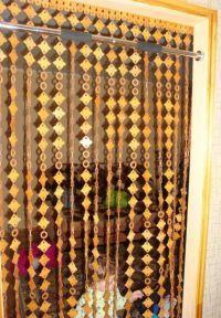 Деревянные шторы на дверной проем 7