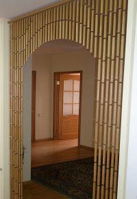 Деревянные шторы на дверной проем 8
