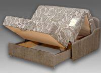 Диван-аккордеон с ящиком для белья3