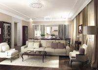 Дизайн гостиной в частном доме1
