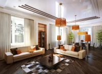 Дизайн гостиной в частном доме2