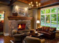 Дизайн гостиной в частном доме3