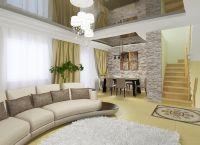 Дизайн гостиной в частном доме7