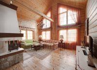 Дизайн гостиной в частном доме8