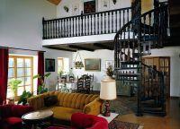 Дизайн гостиной в доме12