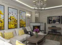 Дизайн гостиной в доме3