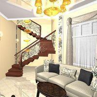классический интерьер коттеджей с лестницами1