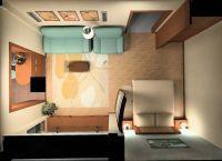 Дизайн комнаты в однокомнатной квартире3