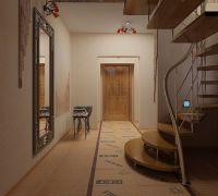 Дизайн коридора в частном доме8