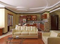 Дизайн кухни гостиной в частном доме1