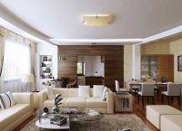 Дизайн кухни гостиной в частном доме3