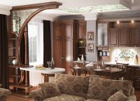 Дизайн кухни гостиной в частном доме7