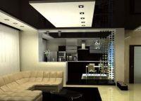 Дизайн кухни гостиной в частном доме8