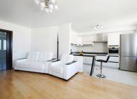 Дизайн кухни гостиной в частном доме9