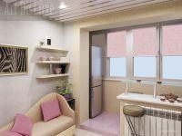 Дизайн кухни с балконом1