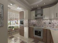 Дизайн кухни с балконом2