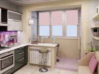 Дизайн кухни с балконом4