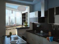Дизайн кухни с балконом8