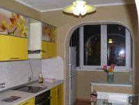 Дизайн кухни с балконом9
