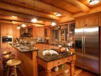 Дизайн кухни в частном деревянном доме 2