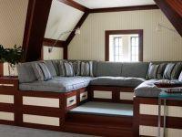 Дизайн мансарды в деревянном доме1