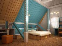 Дизайн мансарды в деревянном доме2