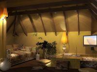 Дизайн мансарды в деревянном доме3