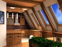 Дизайн мансарды в деревянном доме4